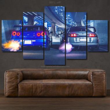 Canvas GT-R R34 & Supra