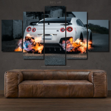 Canvas Nissan GT-R R35 Alb