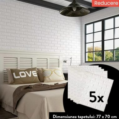 TAPET AUTOADEZIV 3D 5X (77 cm x 70 cm)